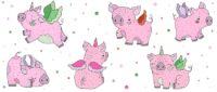 Новогодние кружки в подарок для детей и взрослых, кружка на новый год 2019, новогодние кружки для школьников, для детского сада, для коллег, для родственников, новогодние кружки в подарок, что подарить на новый год 2019, свинья, кабан, год свиньи, кружка с хрюшкой, единорог, единорожка хрюшка