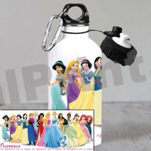 Спортивная бутылка для воды детская бутылка с принцессами