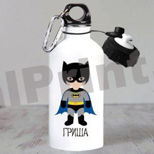 Именные спортивные бутылки для воды, купить спортивную бутылку, бутылка для воды именная, бутылки для воды с логотипом, бутылка с 23 февраля, детская бутылка для воды, бутылка супергерои, бэтмен