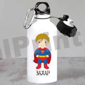 Именные спортивные бутылки для воды, купить спортивную бутылку, бутылка для воды именная, бутылки для воды с логотипом, бутылка с 23 февраля, детская бутылка для воды, бутылка супергерои, супермен
