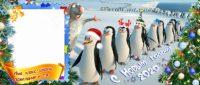Новогодняя кружка с пингвинами, кружка с мадагаскаром