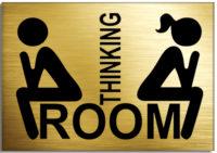 Табличка на дверь туалета прикольная thinking room