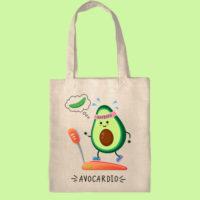 экосумка, экоавоська, сумка шоппер авокардио, сумка с авокадо