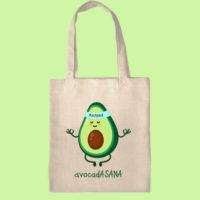 сумка для йоги, экосумка, экоавоська, сумка шоппер с принтом, авокадасана, сумка с авокадо
