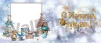 Новый год и Рождество - макеты для кружек в подарок для школьников,для коллег, для родственников, новогодние кружки в подарок