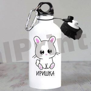 Спортивная бутылка для воды девочкам котики милота