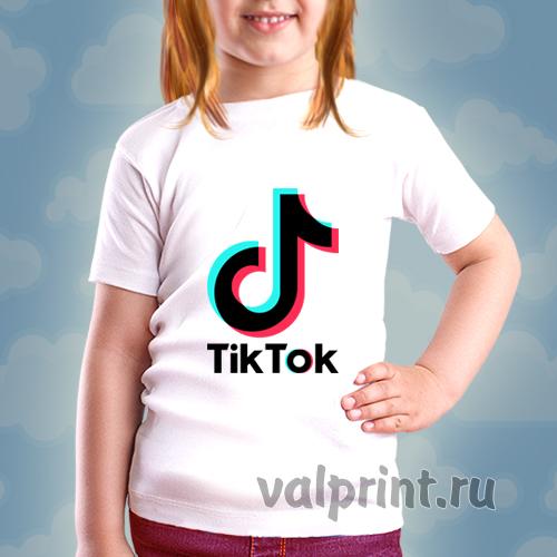 """Футболка детская """"Tiktok"""" для звёзд Tiktok."""