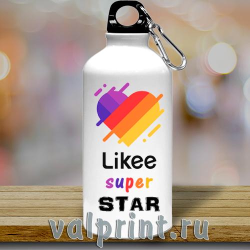 "Спортивная бутылка для воды ""Likee super star""для звёзд Likee."