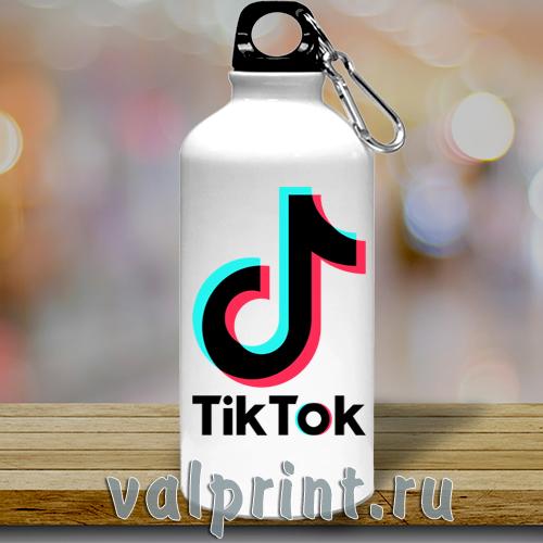 """Спортивная бутылка для воды """"Tiktok"""" для звёзд Tiktok."""
