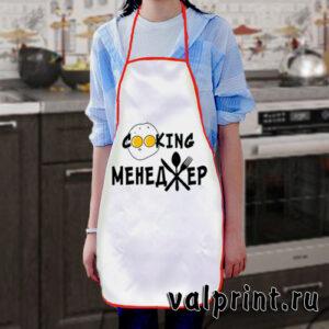 """Фартук с принтом """"Cooking менеджер"""""""