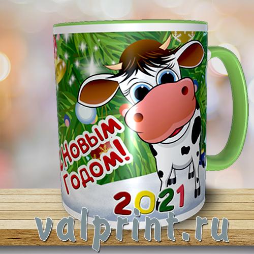 """Кружка новогодняя """"Год быка"""""""