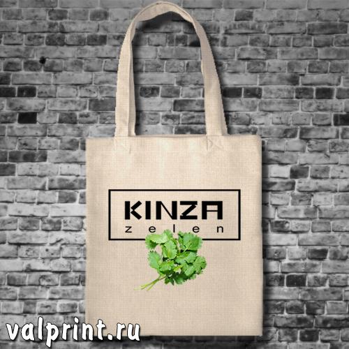 """Сумка-шоппер """"Кинза"""" из сублимационного льна с ярким, креативным принтом – ваш верный, модный и стильный спутник и помощник."""