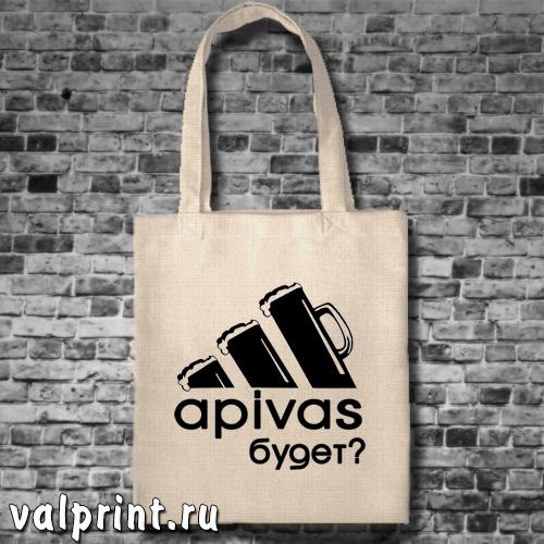"""Сумка-шоппер """"Апивас?"""""""
