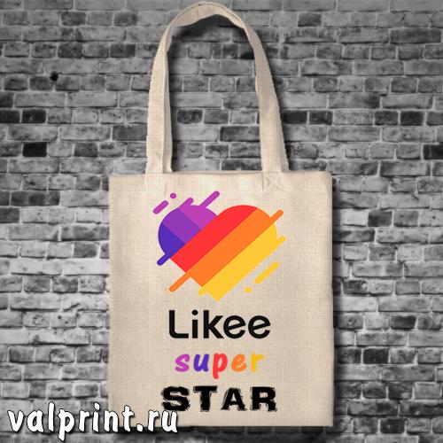 "Сумка-шоппер ""Likee super star"" для звёзд Likee"