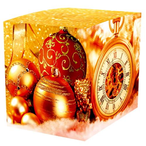"""Коробка для кружки """"Золотые шары"""" - новогодняя подарочная коробочка из мелованного картона, подойдёт для упаковки как детского, так и взрослого подарка."""