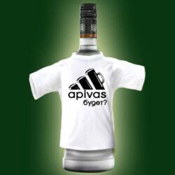 """Футболка на бутылку """"Апивас?"""". Футболки на бутылку – яркий, весёлый атрибут любого праздника, где бы он не проходил. Подходит для любых бутылок."""